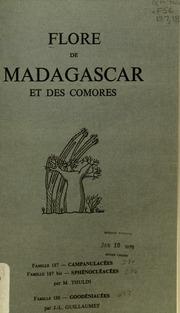 Vol fam 187: Campanulacees: Flore de Madagascar et des Comores plantes vasculaires - publiee sous les auspices du gouvernement general de Madagascar et sous la direction de H. Humbert.