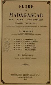 Vol fam 8: Schizeacees: Flore de Madagascar et des Comores plantes vasculaires - publiee sous les auspices du gouvernement general de Madagascar et sous la direction de H. Humbert.