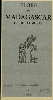 Vol fam 31: Aracees: Flore de Madagascar et des Comores plantes vasculaires - publiee sous les auspices du gouvernement general de Madagascar et sous la direction de H. Humbert.