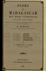 Vol fam 48: Burmanniacees: Flore de Madagascar et des Comores plantes vasculaires - publiee sous les auspices du gouvernement general de Madagascar et sous la direction de H. Humbert.