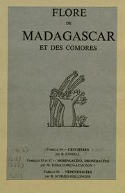 Vol fam 84: Cruciferes: Flore de Madagascar : (plantes vasculaires)