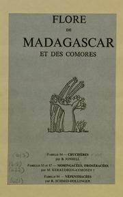 Vol fam 85: Moringacees: Flore de Madagascar et des Comores plantes vasculaires - publiee sous les auspices du gouvernement general de Madagascar et sous la direction de H. Humbert.
