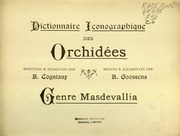 Vol Masdevallia: Dictionnaire iconographique des orchidees direction and redaction par A. Cogniaux -dessins and aquarelles par A. Goossens.