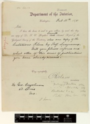 correspondence delano columbus and engelmann george