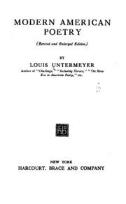 Homework help with modernist american poets