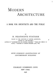 Modern Architecture A Critical History a short critical history of architecture : statham, h. heathcote