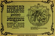 Modern show card lettering designs etc thompson william modern show card lettering designs and advertising phases malvernweather Image collections