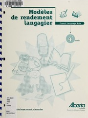 Vol 4e année: Modèles de rendement langagier : French language arts : français langue seconde, immersion 4e année