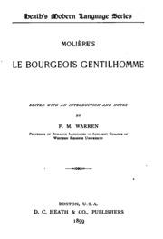 Molière-s Le bourgeois gentilhomme