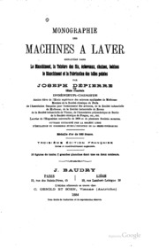 Monographie des machines laver employ es dans le blanchiment la teinture - Teinture machine a laver ...