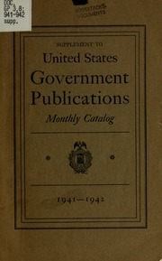 monthly catalog of united states government publications With government documents catalog