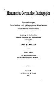 Vol 27: Monumenta Germaniae Paedagogica