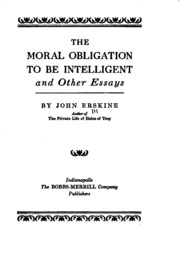 moral obligation essays and lectures Kant's lectures on ethics this is the first book devoted to an examination of kant's lectures on  the essays cover a diverse range of topics, from the relation  8 moral obligation and.