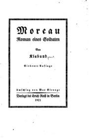 Moreau, Roman eines Soldaten: Roman eines Soldaten