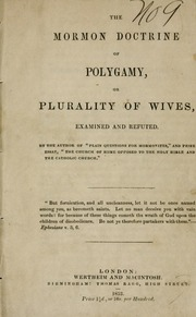 the history of mormon polygamy essay He has presented at numerous meetings and symposia and published articles in the journal of mormon history, mormon historical studies, dialogue, as well as contributing chapters to the persistence of polygamy series.