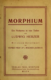 Morphium : ein Notturno in vier Teilen