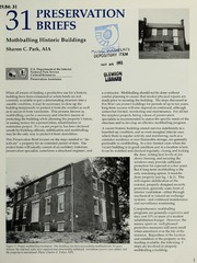 Mothballing Historic Buildings