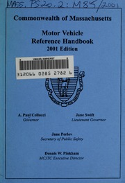 Commercial motor vehicle information brochure 1988 for Motor vehicle excise tax ma