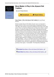 Laxmi Prasad Devkota Muna Madan Book