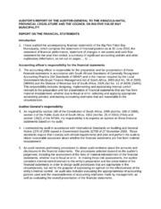 KZN273 The Big Five False Bay Audit Report 2009-10