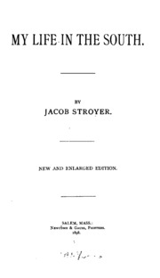 the enduring life of jacob stroyer Jacob stroyer, sketches of my life in the south, salem, 1879 from: from bondage to belonging in lieu of an abstract, here is a brief excerpt of the content.