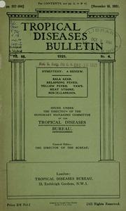 Tropical diseases bulletin, 18 n.4