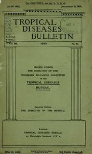 Tropical diseases bulletin, 16 n.5