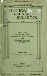 Tropical diseases bulletin, 16 n.6