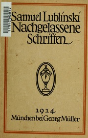 Nachgelassene Schriften