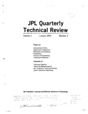 JPL quarterly technical review, volume 1, no. 4