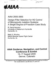 control design of a single degree Feedforward control objectives of the chapter  • show how to use the material in chapters 3, 4, 6, and 7 to design and tune combined feedforward/feedback control systems prerequisite reading  for a single-degree of freedom imc controller however, as we shall soon see by example,.