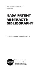NASA Patent Abstracts Bibliography: A Continuing Bibliography