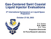Gas-Centered Swirl Coaxial Liquid Injector Evaluations