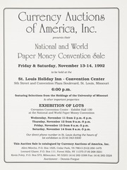National and World Paper Money Convention Sale