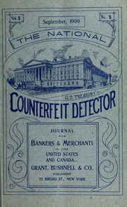 National Counterfeit Detector: Journal for Bankers and Merchants in the United States and Canada
