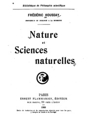 Nature et sciences naturelles