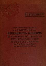 Natur und Museum, Festschrift