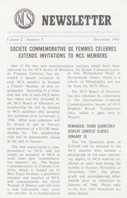 The National Commemorative Society Newsletter: 1965