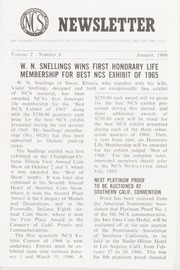 The National Commemorative Society Newsletter: 1966