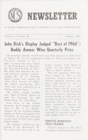 The National Commemorative Society Newsletter: 1967