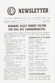 The National Commemorative Society Newsletter: 1971