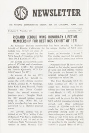 The National Commemorative Society Newsletter: 1972