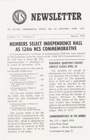 The National Commemorative Society Newsletter: 1974