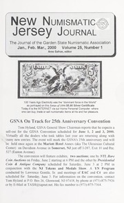 New Jersey Numismatic Journal: Vol. 25 No. 1