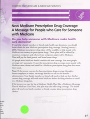 prescription drug coverage 2003 In a 2003 national survey of medicare beneficiaries age sixty-five and  seniors' prescription drug coverage, use, and out-of-pocket spending our inten.