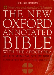 The new Oxford annotated Bible with the Apocryphal/Deuterocanonical