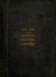 New York and Brooklyn directory, 1786-1796