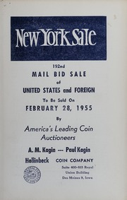 New York Sale: 192nd Mail Bid Sale of United States and Foreign