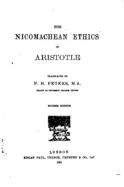 aristotles explanation of why people do what they do in nicomachian ethics Friendship in aristotle's nicomachean ethics people and sour people do not have friends, because they are with an explanation of just how to.