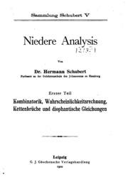 Vol 1: Niedere analysis